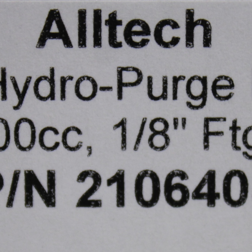 Alltech Hydro-Purge II Moisture Trap; Fitting: 0.3cm; Capacity: 27mL Image