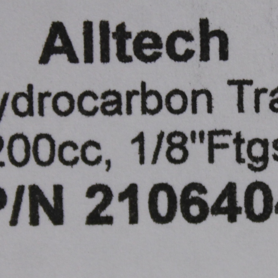 Alltech Hydrocarbon Trap; Fitting: 0.3cm; 250psig Image