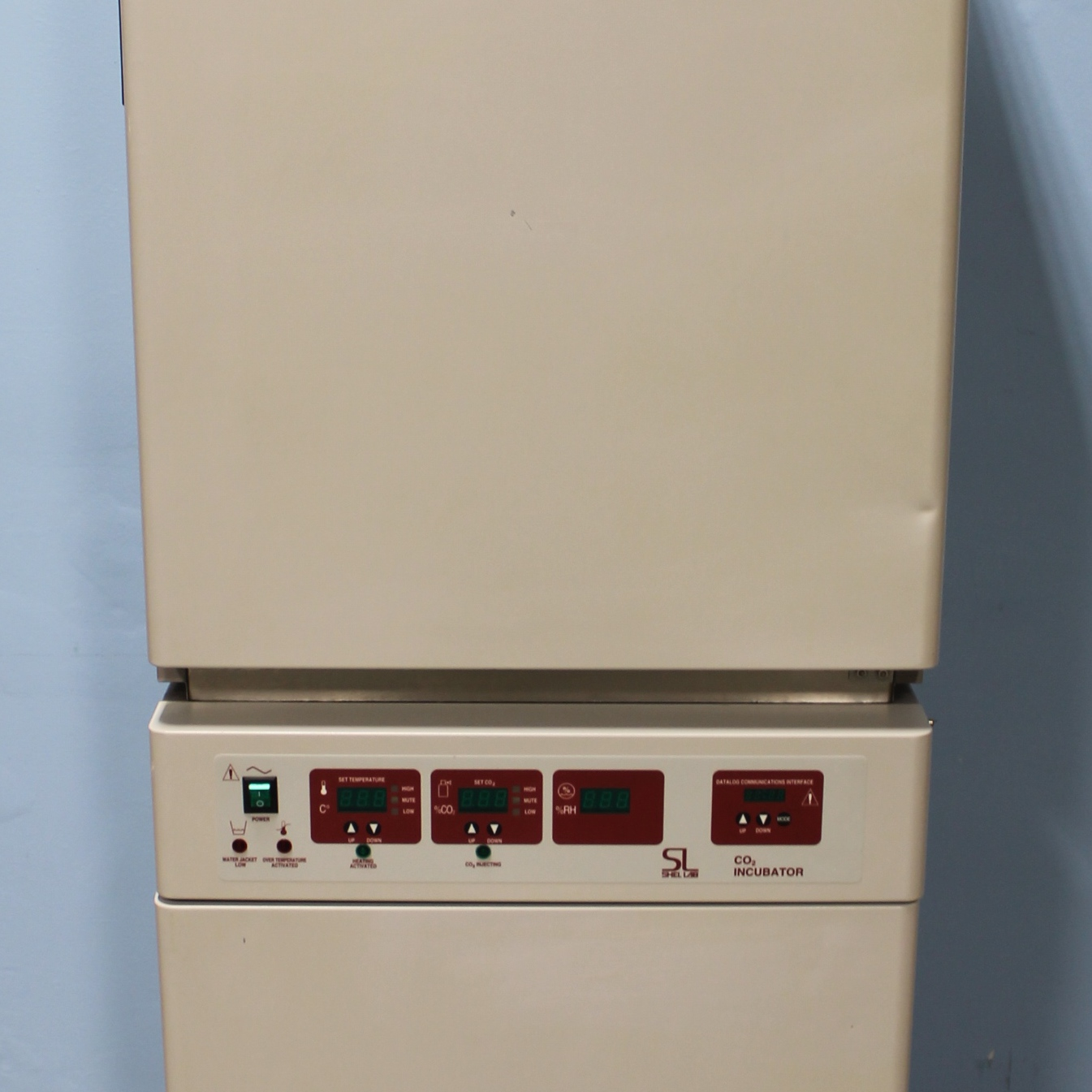 Shel Lab Model 2424/2 Dual Stacked Water Jacketed CO2 Incubator Infrared Control HEPA Filter Image