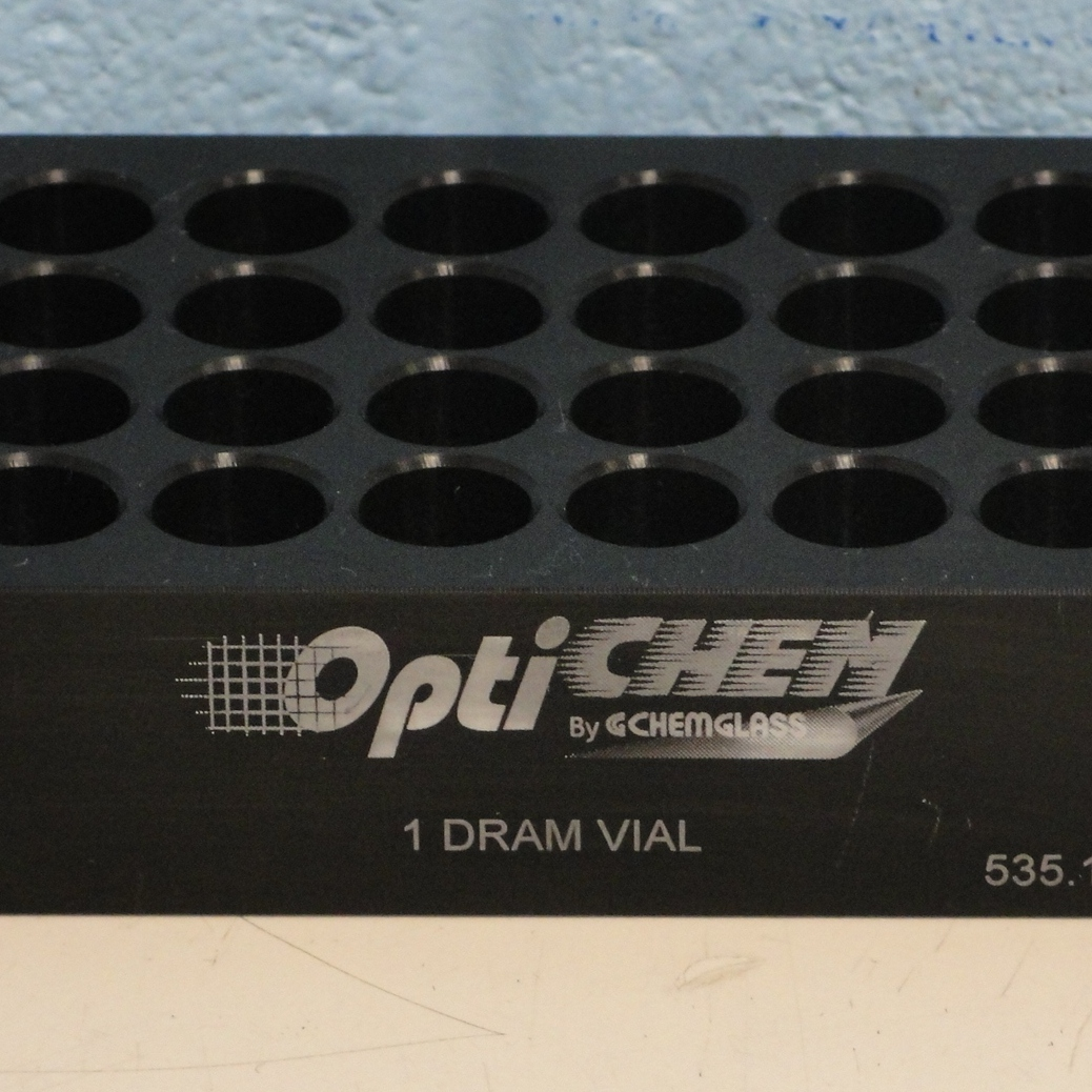 Chemglass OPTICHEM 24-Position 1-Tier Flat Bottom Vial Holder Image