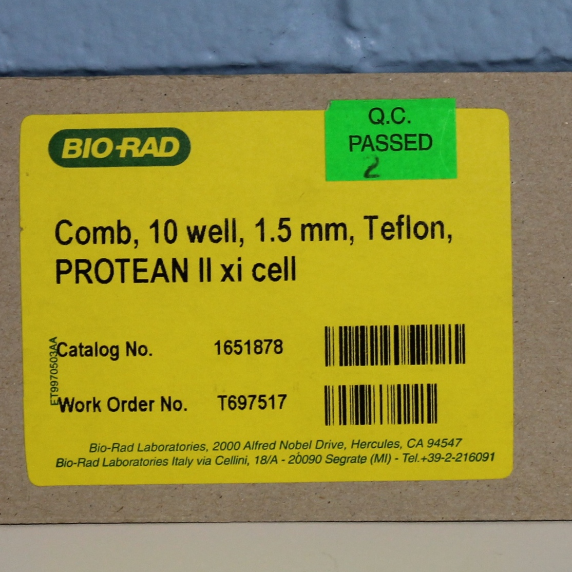 Bio-Rad PROTEAN II xi Comb CAT No. 1651878;10-well, 1.5 mm, Teflon Image