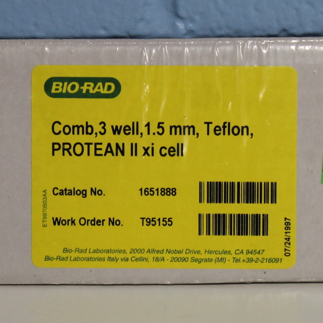 Bio-Rad PROTEAN II xi Comb CAT No. 1651888; 3-well, 1.5 mm, Teflon Image