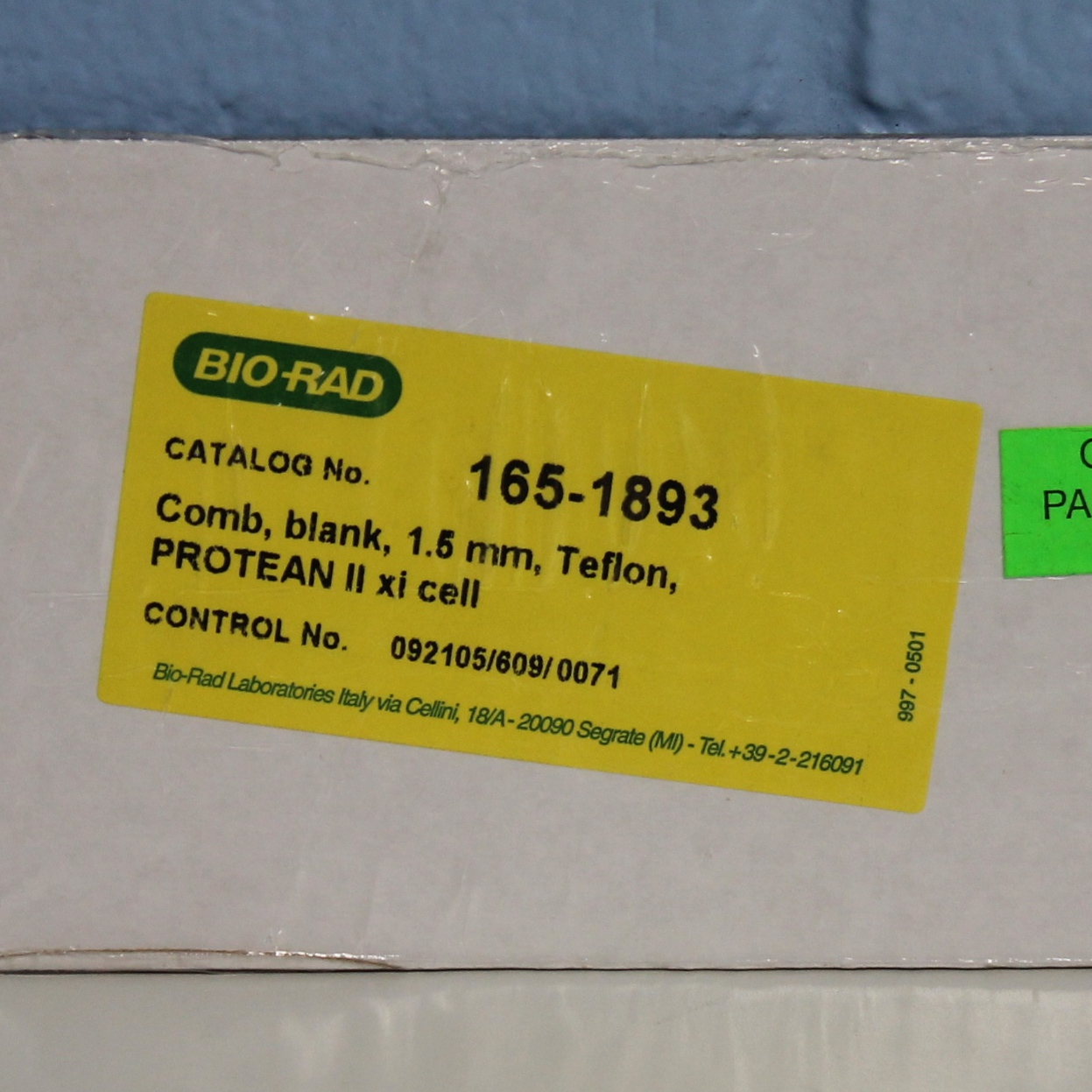 PROTEAN II xi Comb CAT No. 1651893; 1.5 mm, Teflon Name