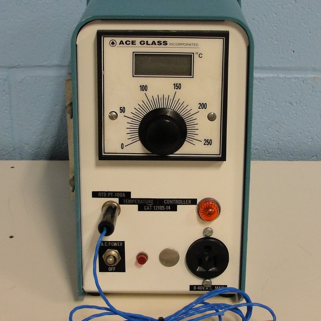 Ace Glass RTD PT-100A Temperature Controller with Probe Image