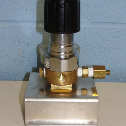 Concoa Regulator Single-Stage, Brass Barstock Body, and Four-Port Configuration Image