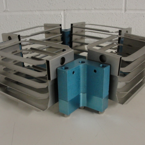 Thermo Scientific FPR-4A Rotor with (4) Shallow Well (5-shelf carrier) Microplates Image