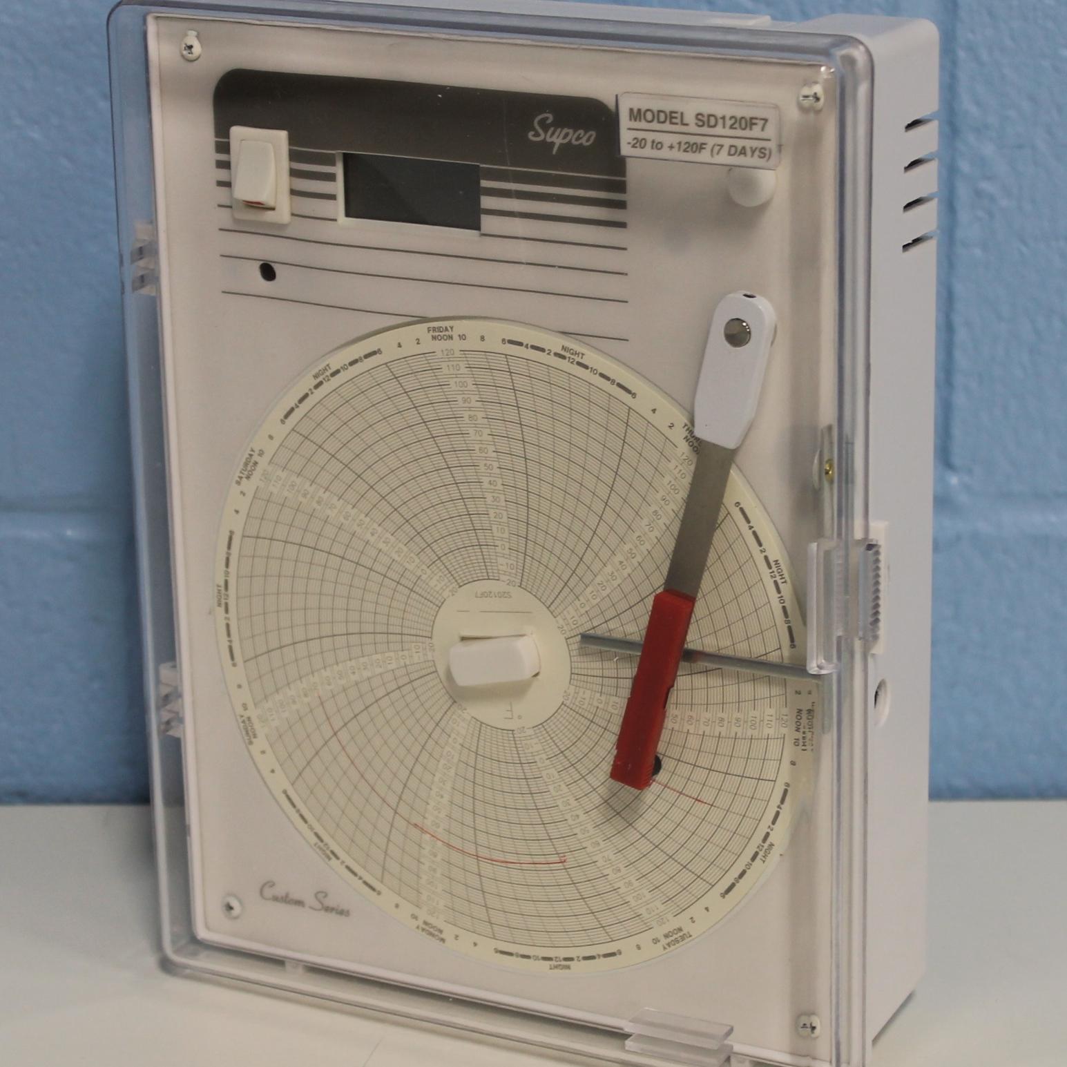 Supco SD120F7 Temperature Recorder W/ Digital Display Image