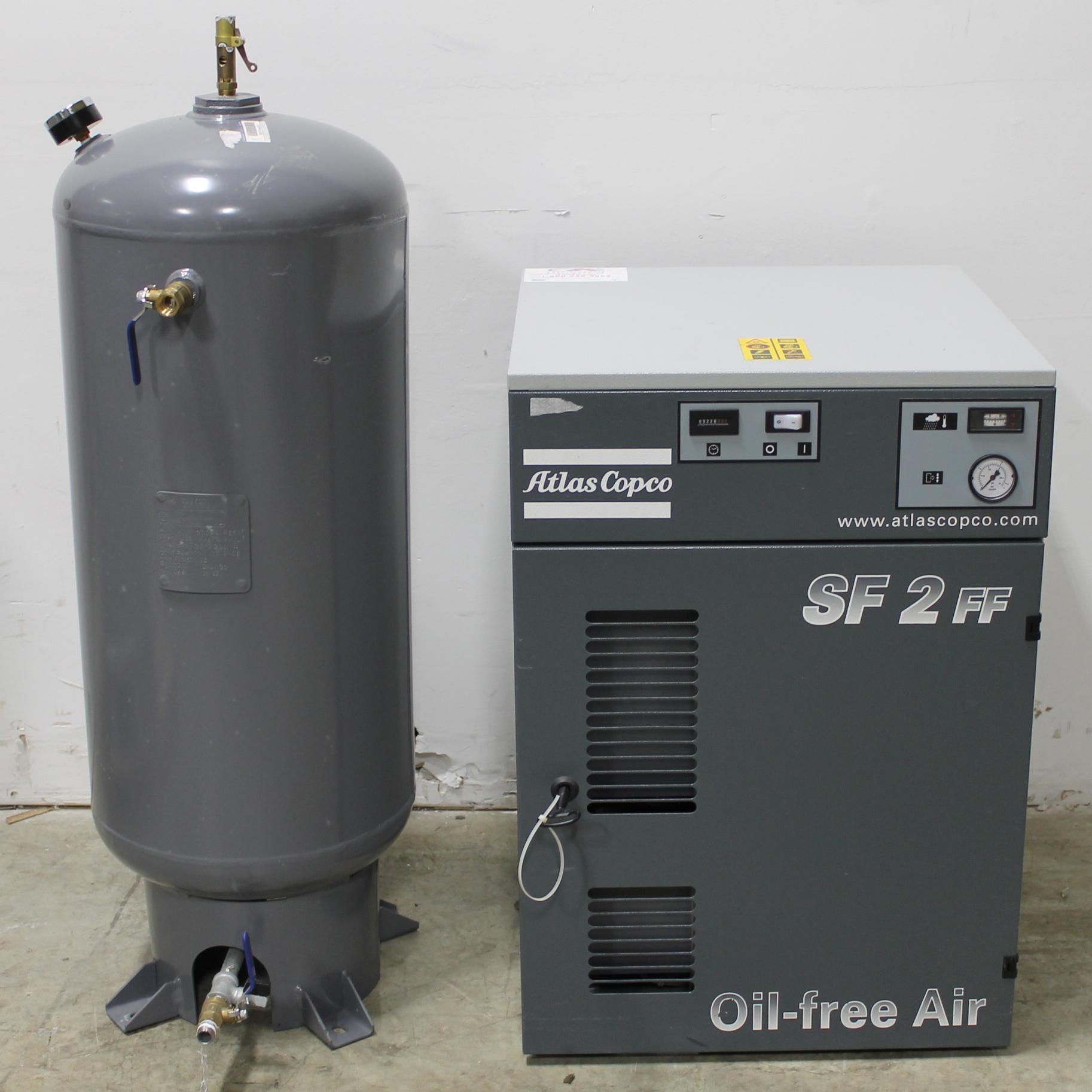 Refurbished Atlas Copco Sf2 Ff Oil Free Air Scroll Compressor