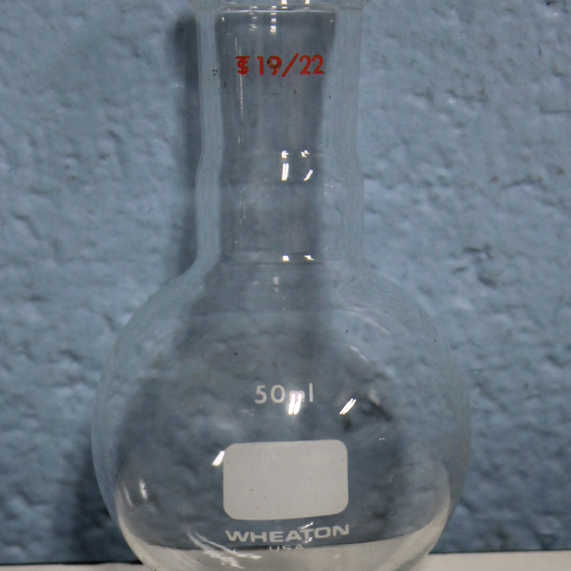 Single-Neck Round-Bottom Flask with Clear-Seal Joint Name