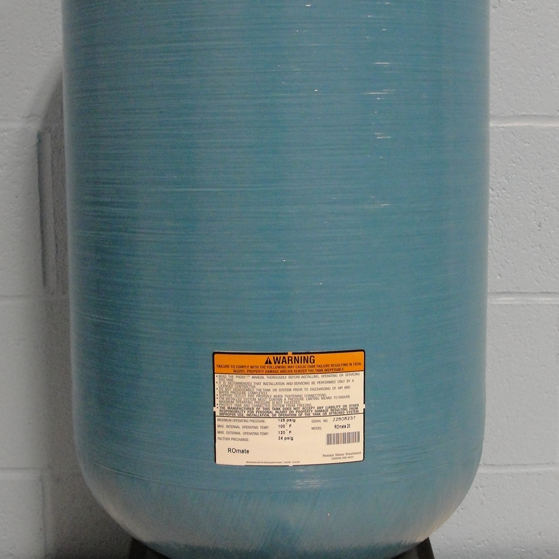 Structural ROMATE-20 Fiberglass Reverse Osmosis Storage Tank Name