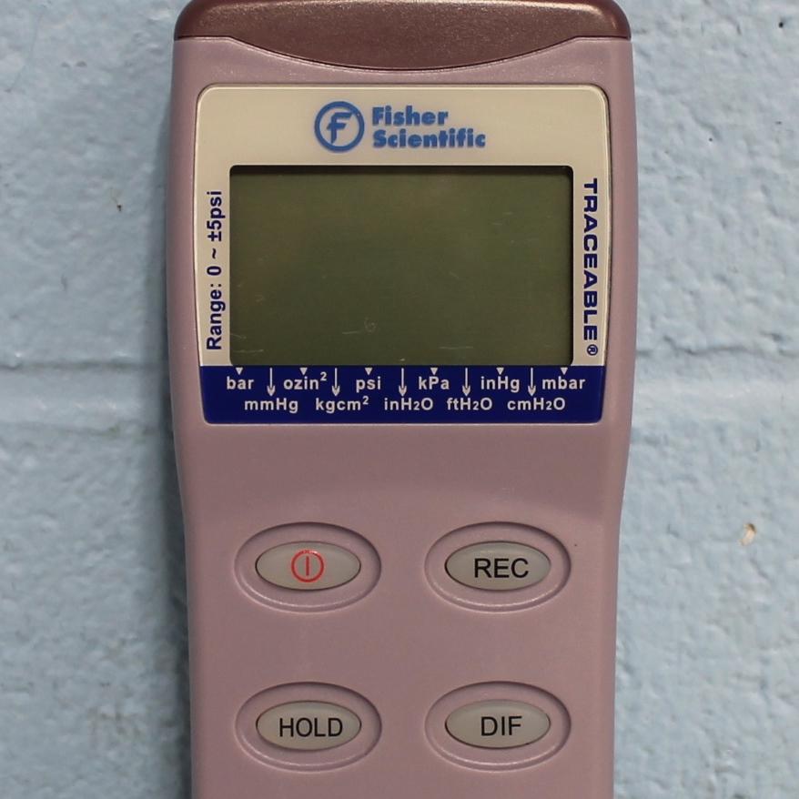 Fisher Scientific Traceable Manometer 0-5 PSI CAT No. 06-664-18 Image
