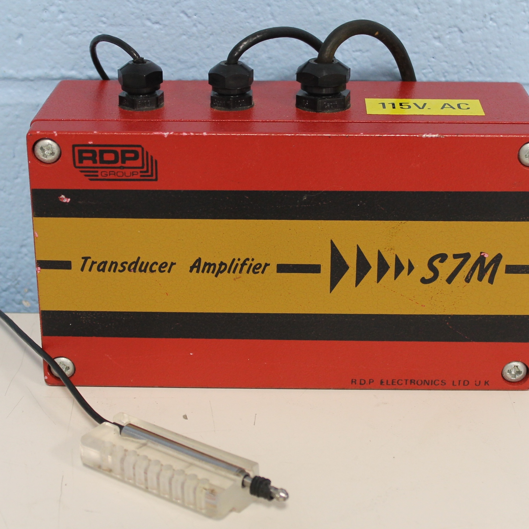 Transducer Amplifier S7M Model 2B Name