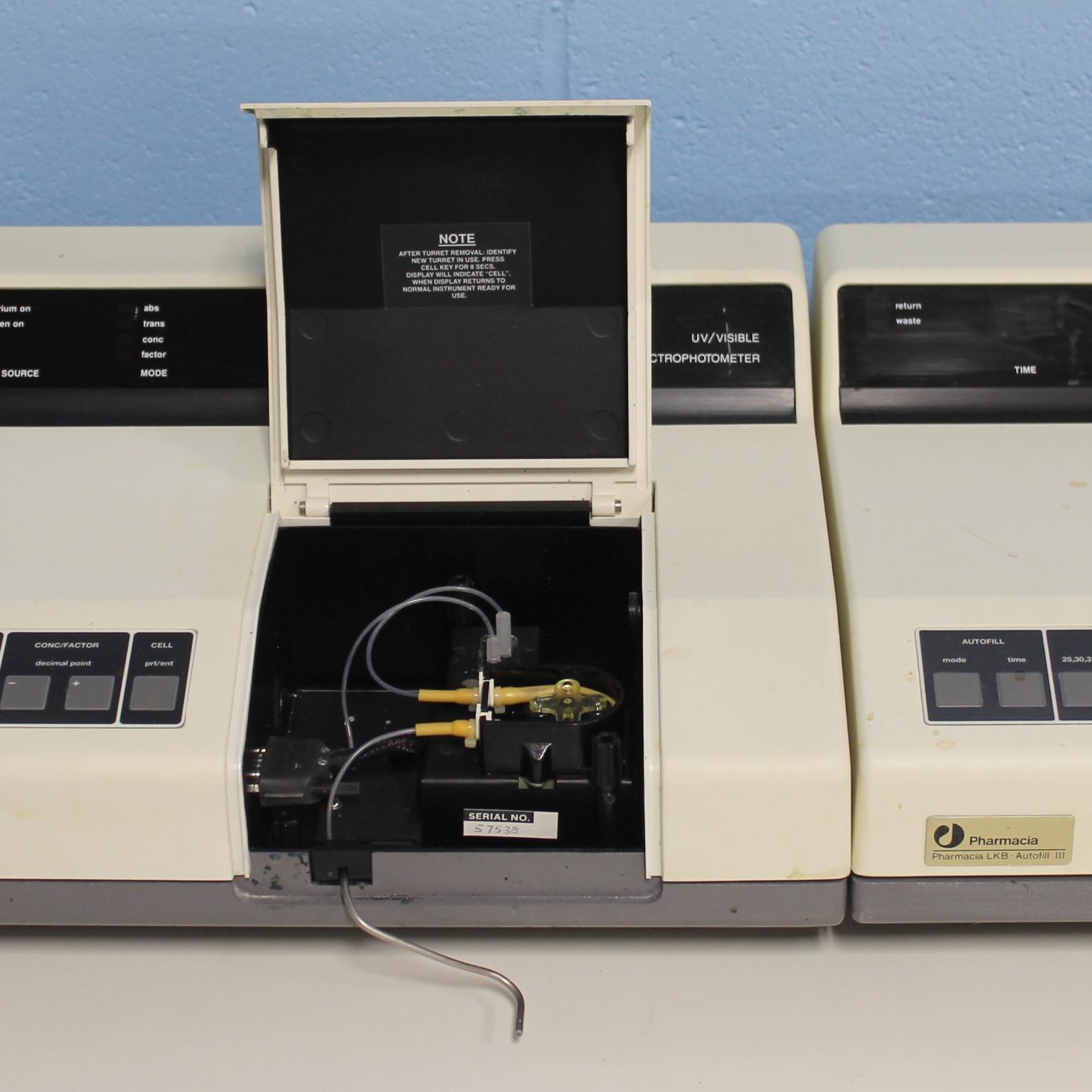 Ultrospec III UV/Vis Spectrophotometer with  Autofill III Name