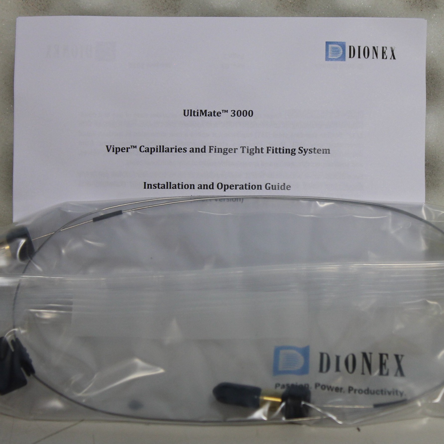 Dionex Viper Capillaries and Finger Tight Fitting System Image