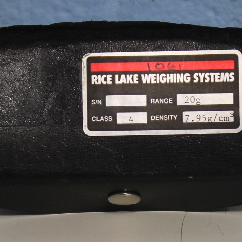 Rice Lake Weighing Systems Weight,Screw Knob 20g ASTM Class 4 SST Polished Density 7.95 Image